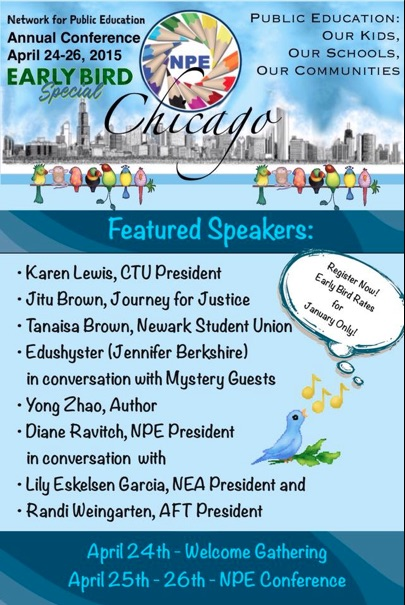 Network For Public Education Conference >> Npe 2015 Annual Conference Chicago Early Bird Special
